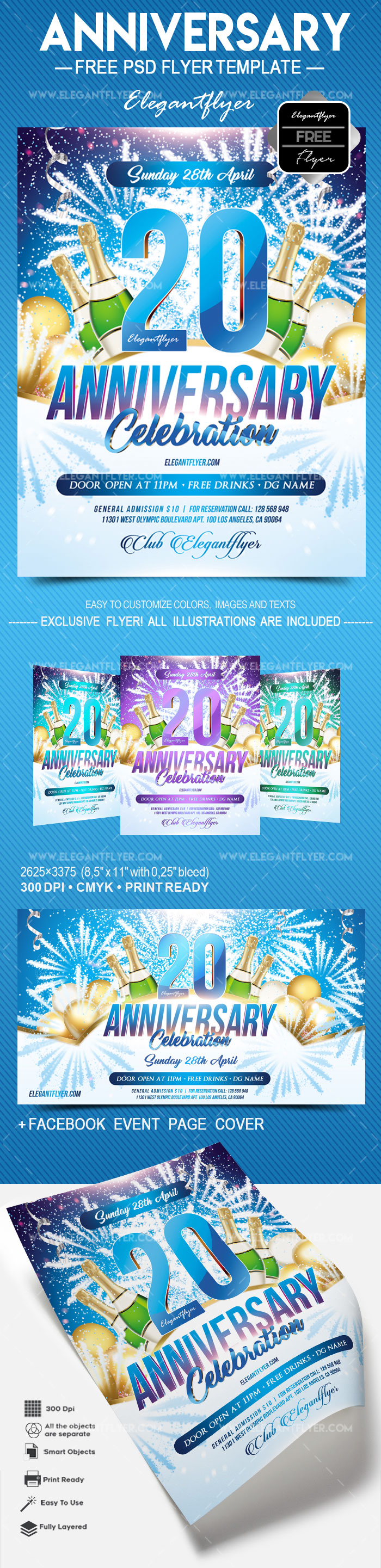 Anniversary – Free Flyer PSD Template