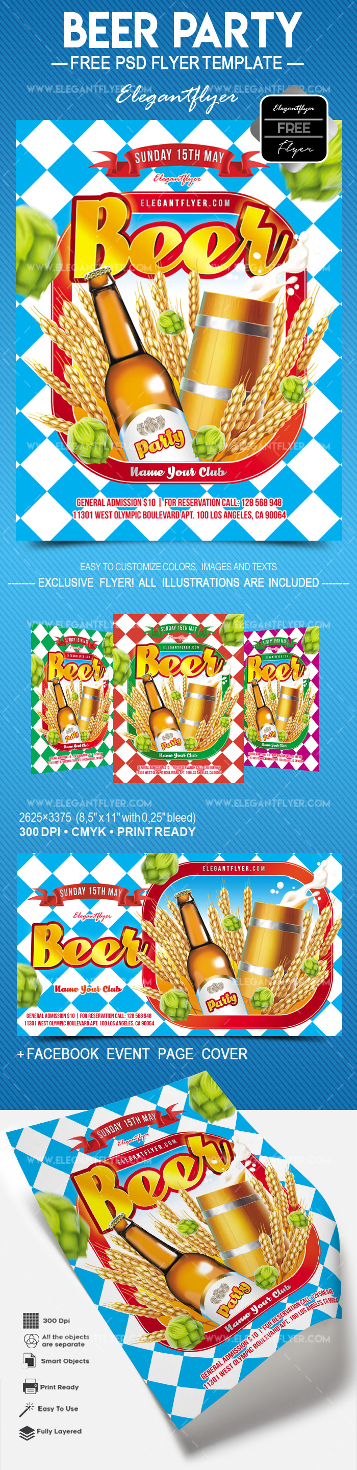 Beer Party – Free Flyer PSD Template