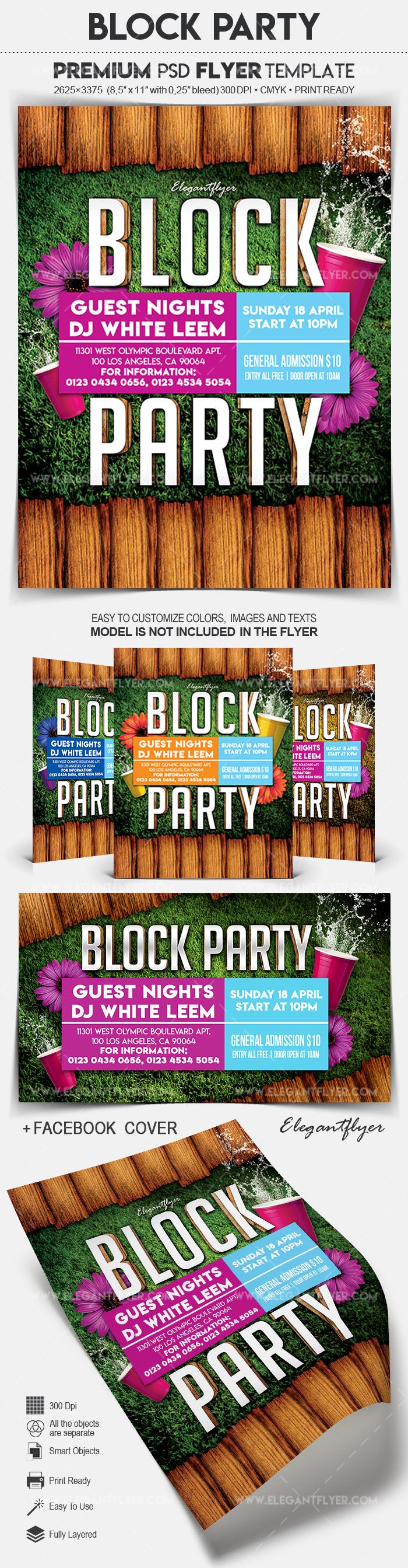 Block Party – Flyer PSD Template