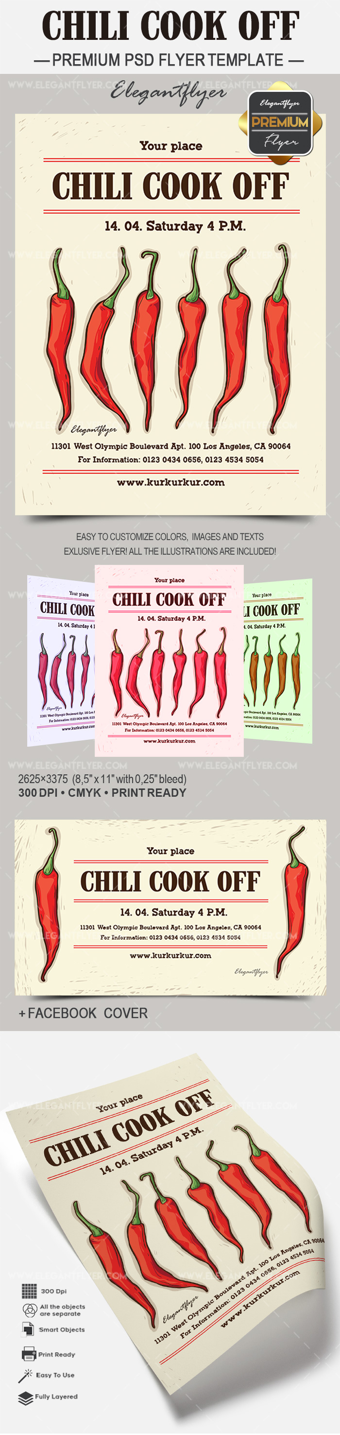 Chili Cook Off Flyer Template – by ElegantFlyer