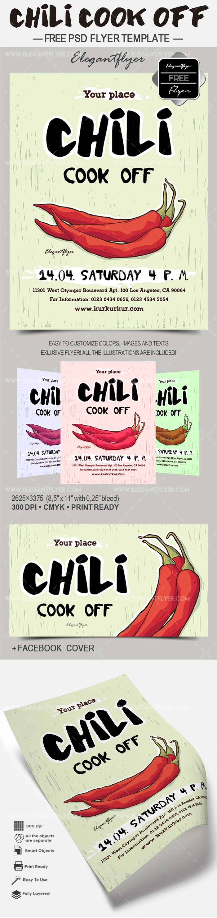 Chili Cook Off – Free Flyer PSD Template