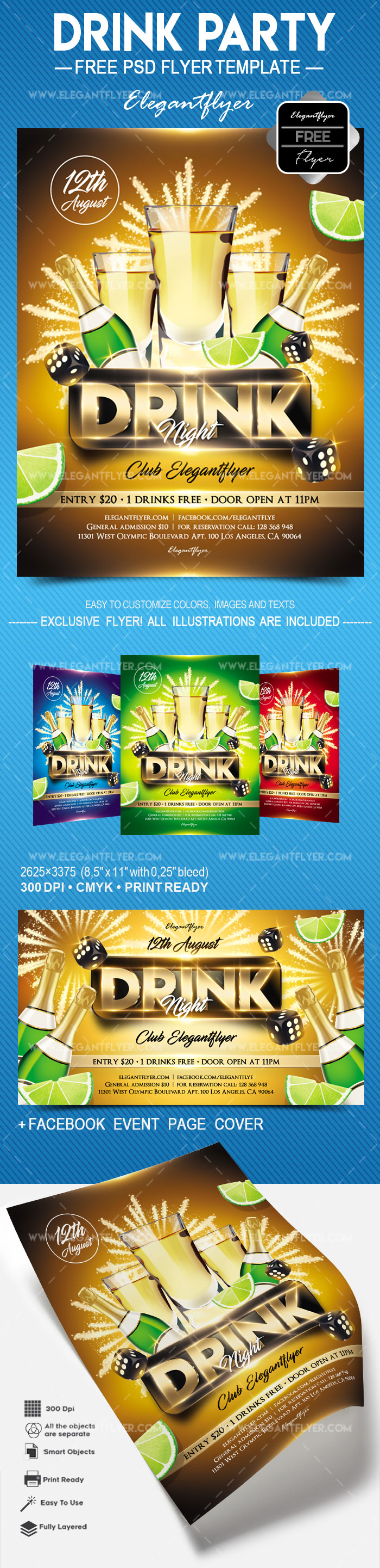 Drink Party – Free Flyer PSD Template