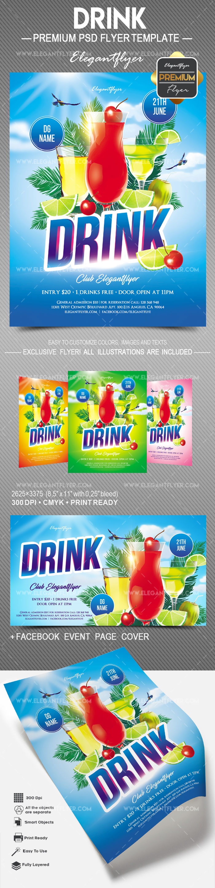 Drink – Free Flyer PSD Template