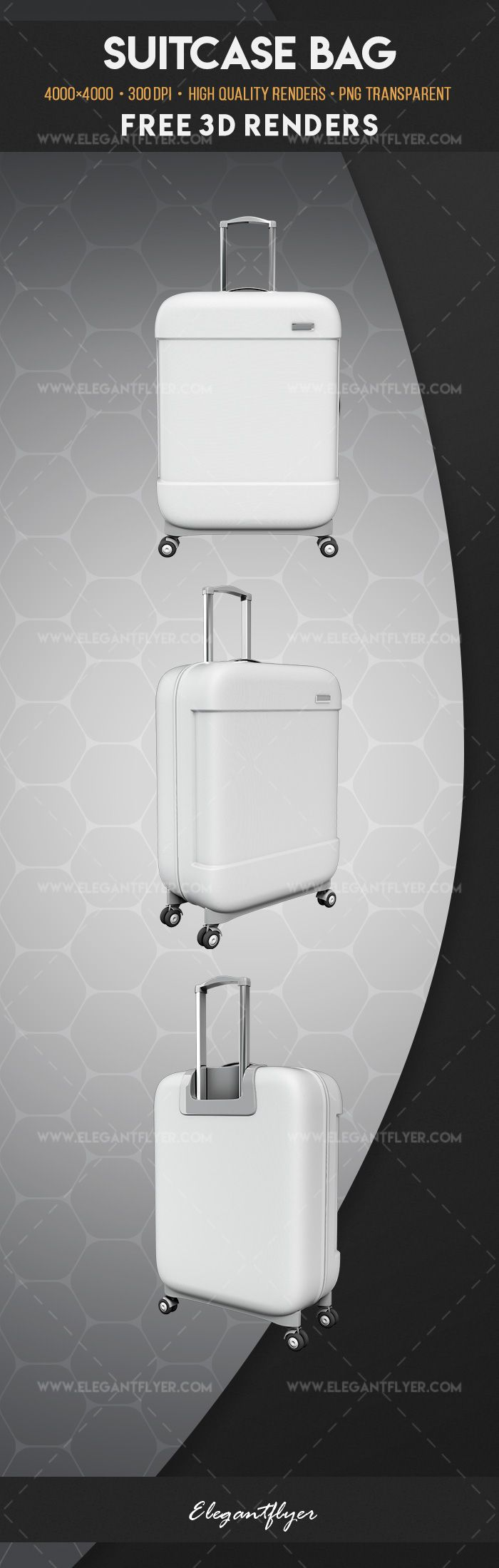 Suitcase Bag – Free 3d Render Templates