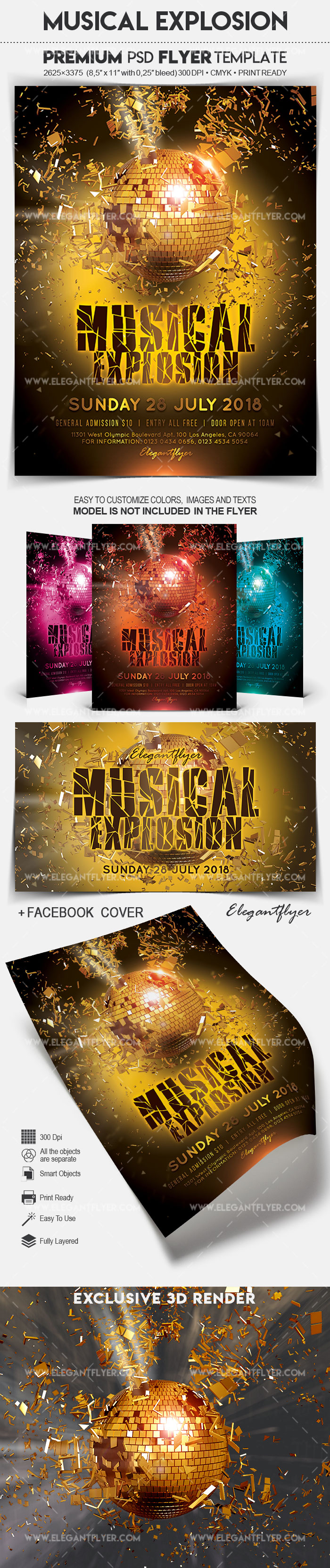 Musical Explosion – Flyer PSD Template