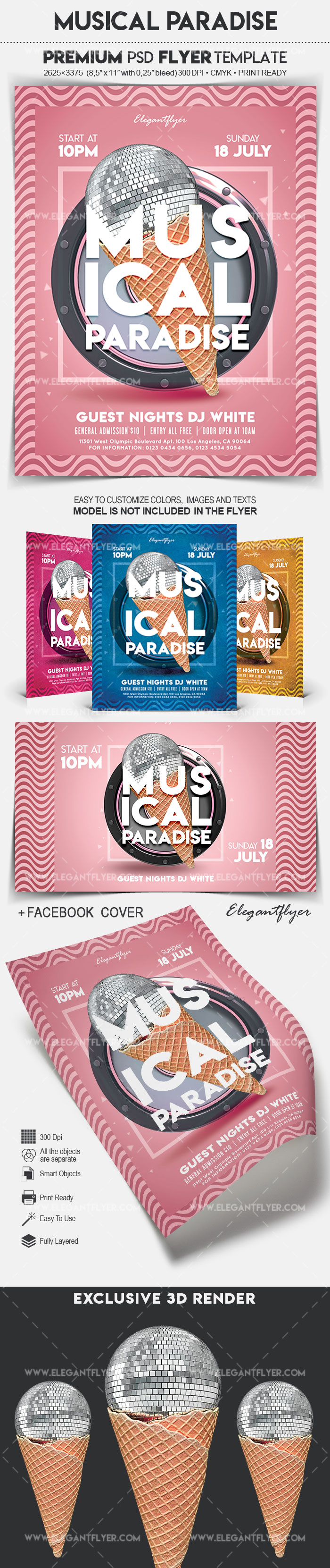 Musical Paradise – Flyer PSD Template