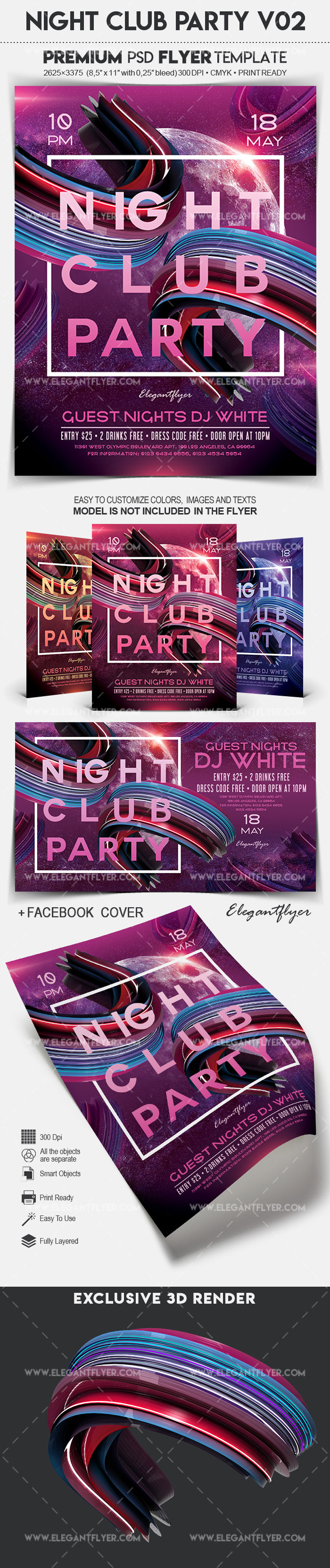 Night Club Party V02 – Flyer PSD Template