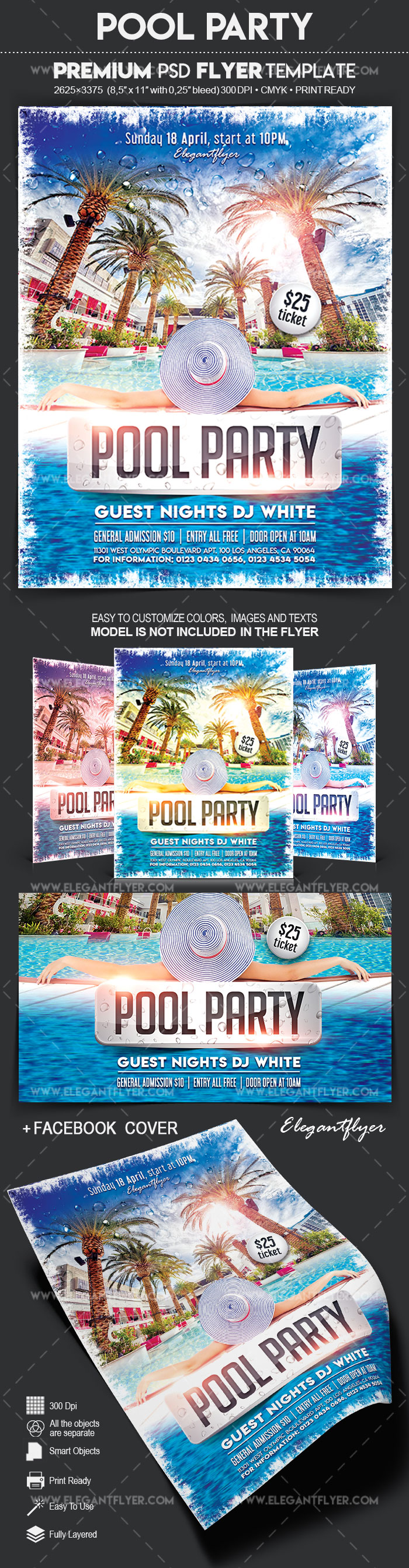 Pool Party – Flyer PSD Template