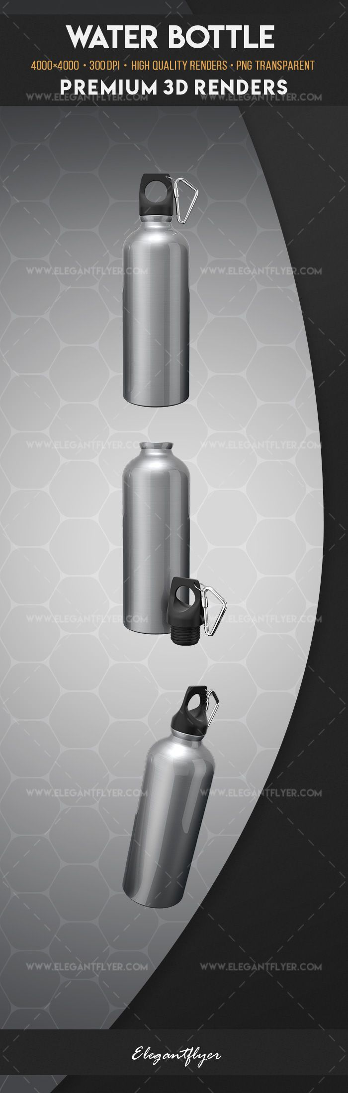 Water bottle – Premium 3d Render Templates