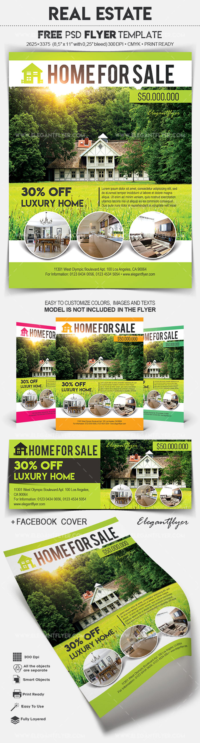 Real Estate – Flyer PSD Template