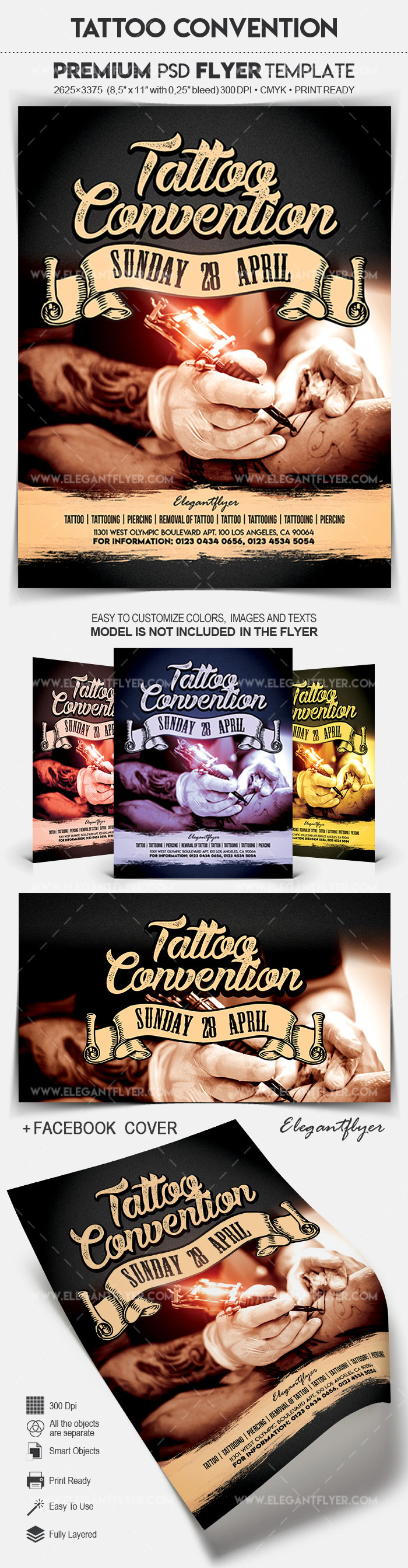 Tattoo Convention – Flyer PSD Template