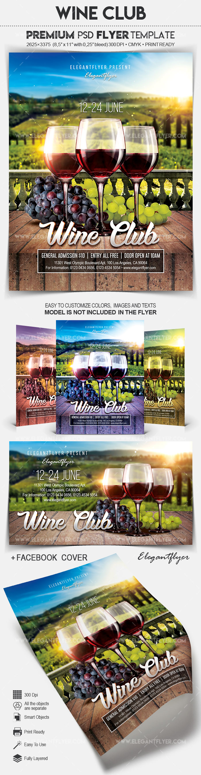 Wine Club – Flyer PSD Template