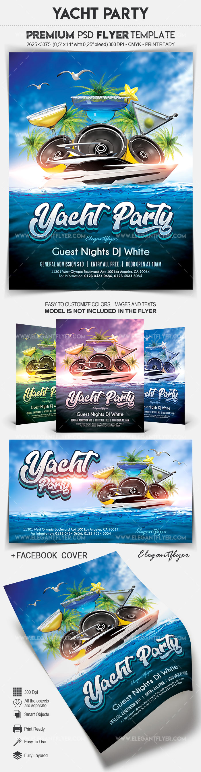 Yacht Party – Flyer PSD Template