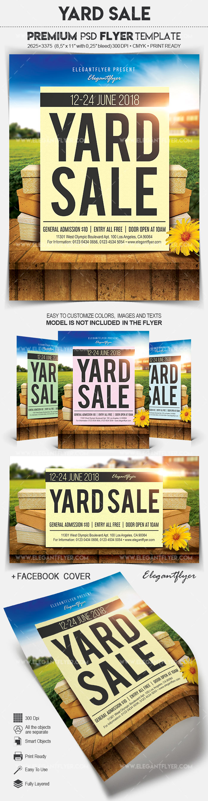 Flyer for Yard Sale in PSD