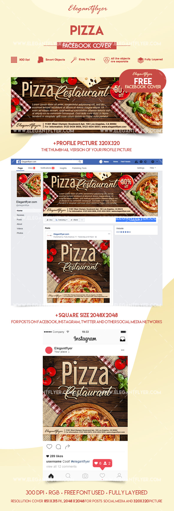 Pizza – Free Facebook Event Page
