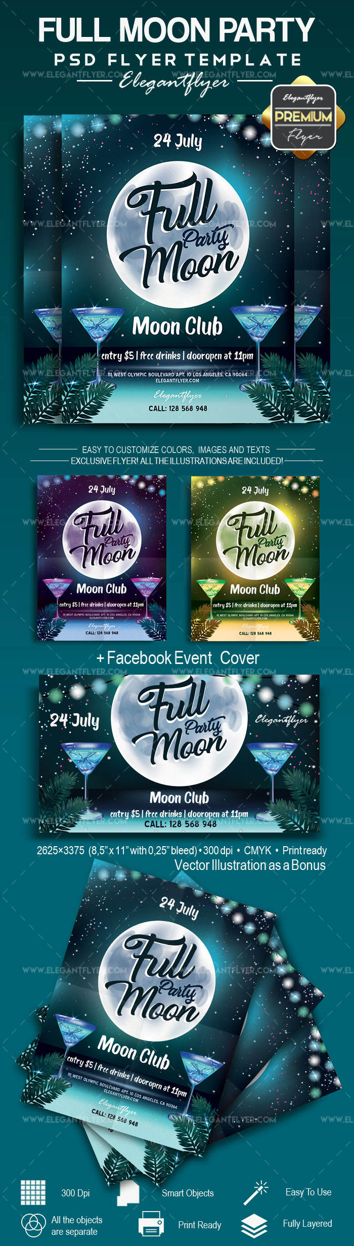 Full Moon Party – Flyer PSD Template