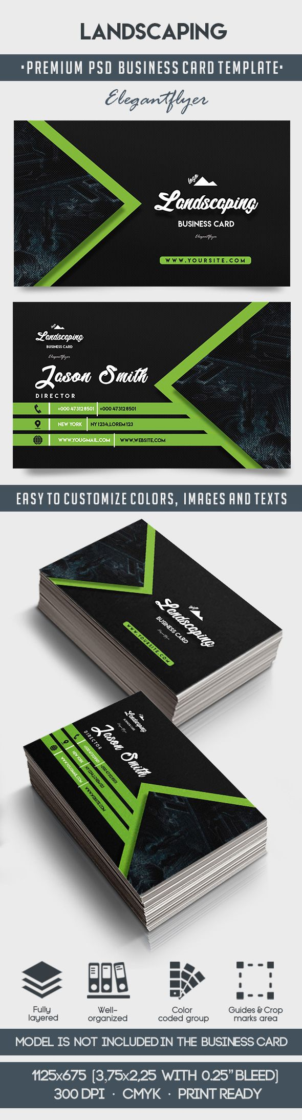 Landscaping business card templates psd by elegantflyer landscaping business card templates psd wajeb Choice Image