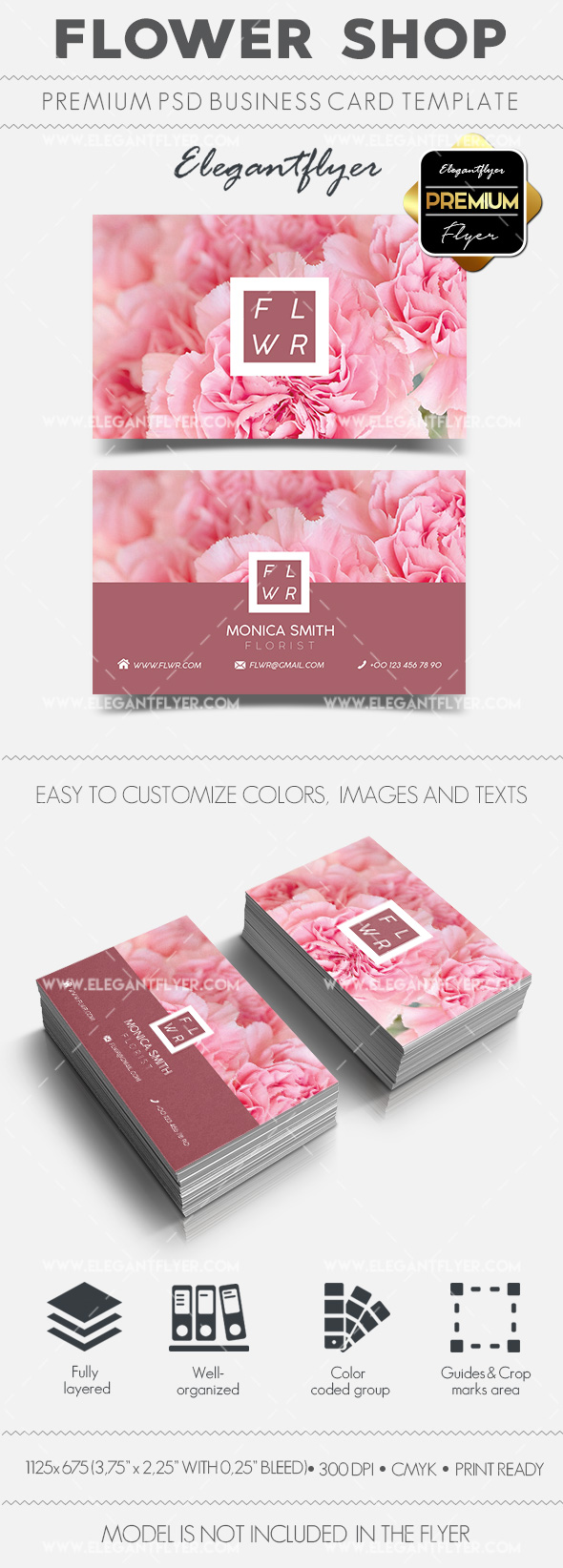 Flower Shop – Business Card Templates PSD
