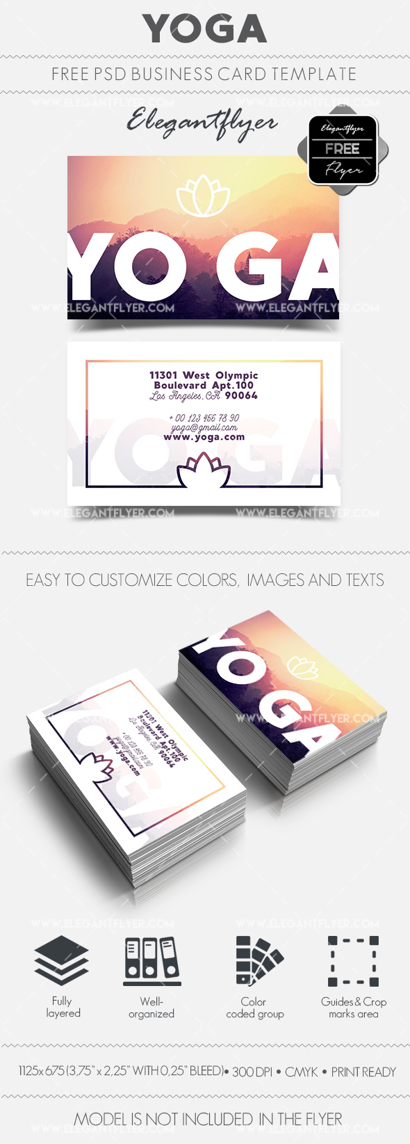 Yoga – Free Business Card Templates PSD