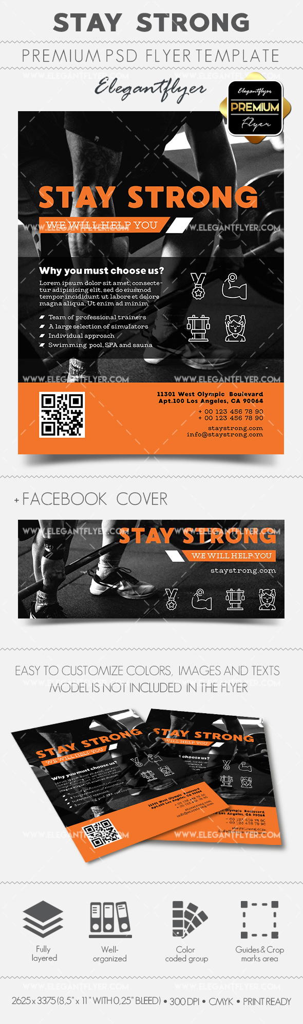 Stay Strong – Flyer PSD Template