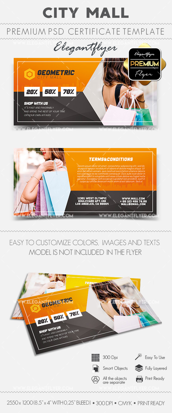 City Mall – Gift Certificate PSD Template