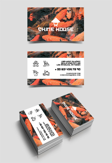 Chine House – Free Business Card Templates PSD