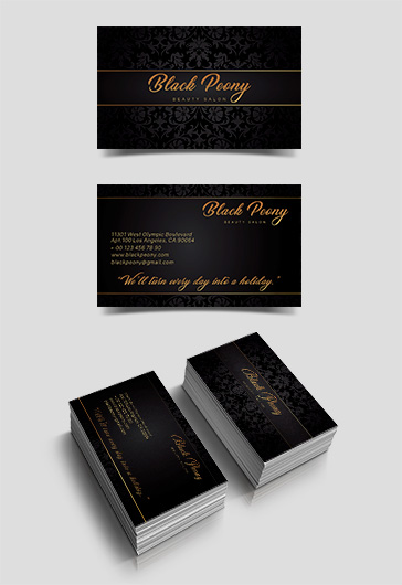 Beauty Salon Free Business Card Design