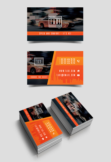 Taxi – Free Business Card Templates PSD