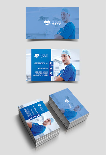 Health Care – Free Business Card Templates PSD