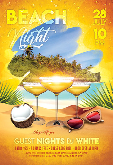 Beach Night – Flyer PSD Template