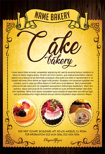 Cake Bakery – Free Flyer PSD Template