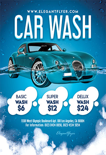 Free Flyer For Car Wash By Elegantflyer