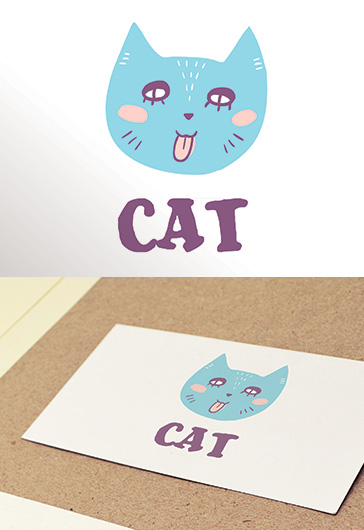 Cat – Free Logo Template