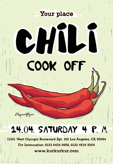 Chili Cook Off – Free Flyer PSD Template – by ElegantFlyer