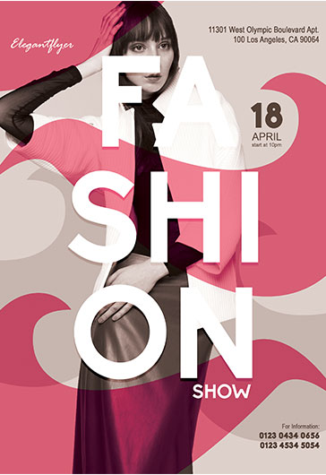 Fashion Week – Flyer PSD Template