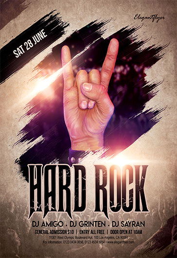 Hard Rock – Free Flyer PSD Template