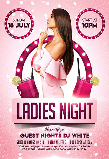 Ladies Night – Flyer PSD Template