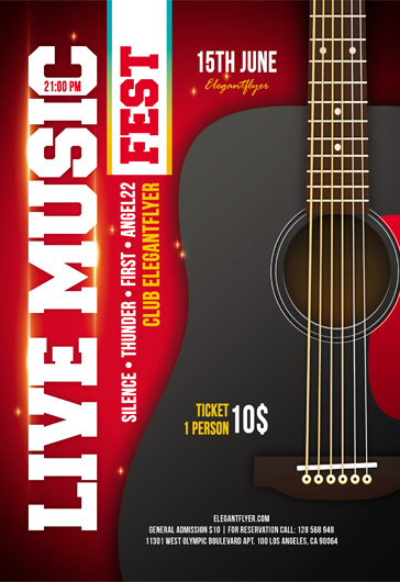Live Music – Flyer PSD Template