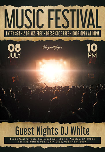 Music Festival – Flyer PSD Template