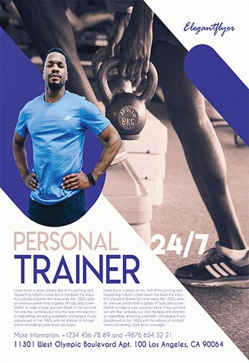 Personal Trainer – Free Flyer PSD Template