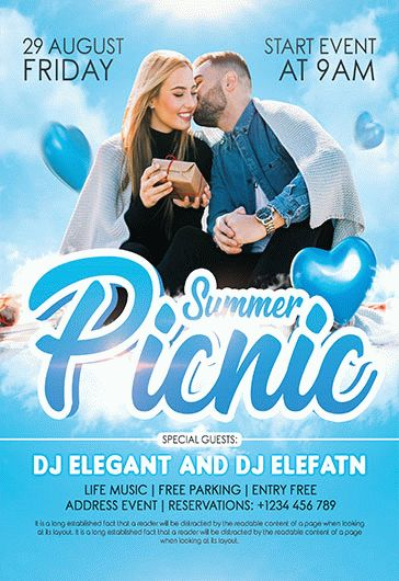 Picnic – Flyer PSD Template