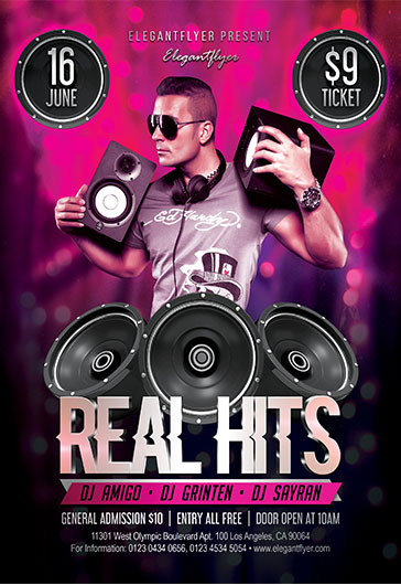 Real Hits – Flyer PSD Template