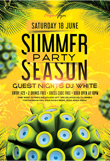 Summer Paradise – Flyer PSD Template