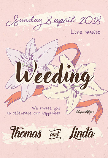 Weeding Flyer Template