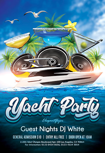 Best Party Cruises PSD Poster
