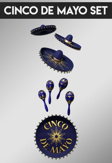 Cinco de Mayo Set – Premium 3d Render Templates