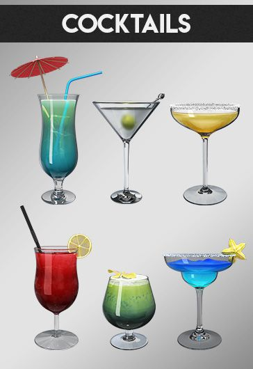 Cocktails – Premium 3d Render Templates