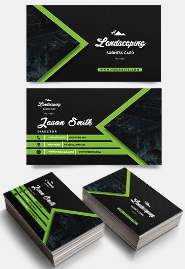 Business card templates psd by elegantflyer landscaping business card templates psd accmission