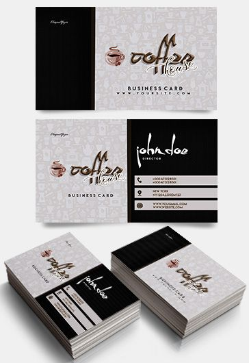 Free business cards templates for photoshop by elegantflyer coffee house free business card templates psd cheaphphosting Images
