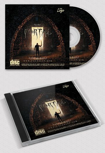 Hybrid Music – CD Cover PSD Template